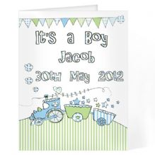 Whimsical Train Its a Boy Card